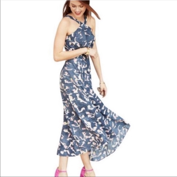 CAbi Dresses & Skirts - Cabi Blue Maxi Halter Dress Style 5269
